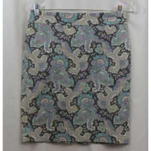 Forever 21 Multi Color Paisley Floral Skirt S